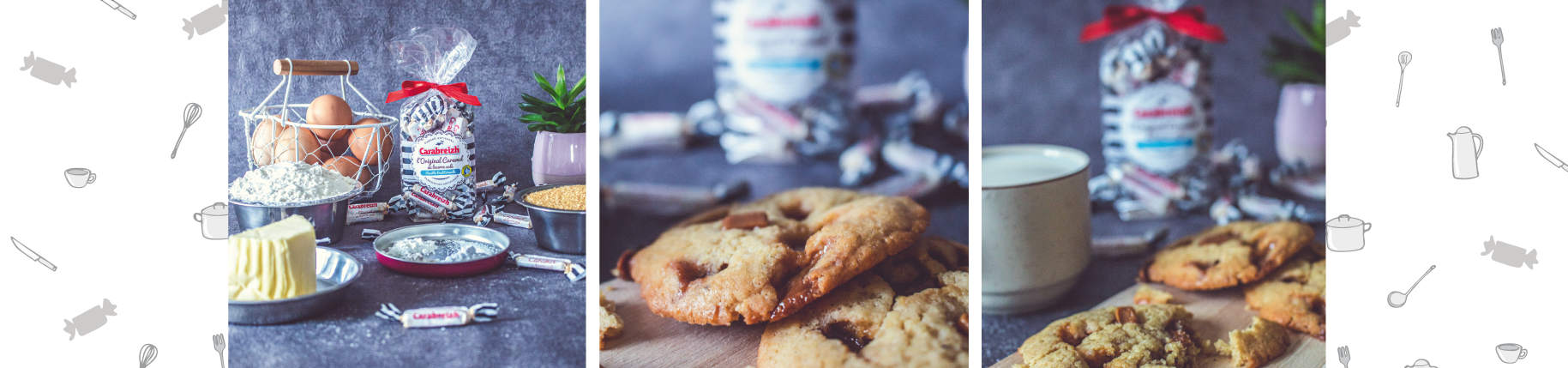 Cookies au caramel en barre Carabreizh méga chunky