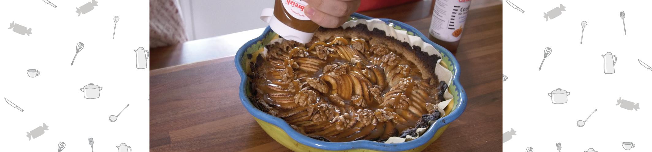 Tarte aux pommes au Coulis de caramel au beurre salé