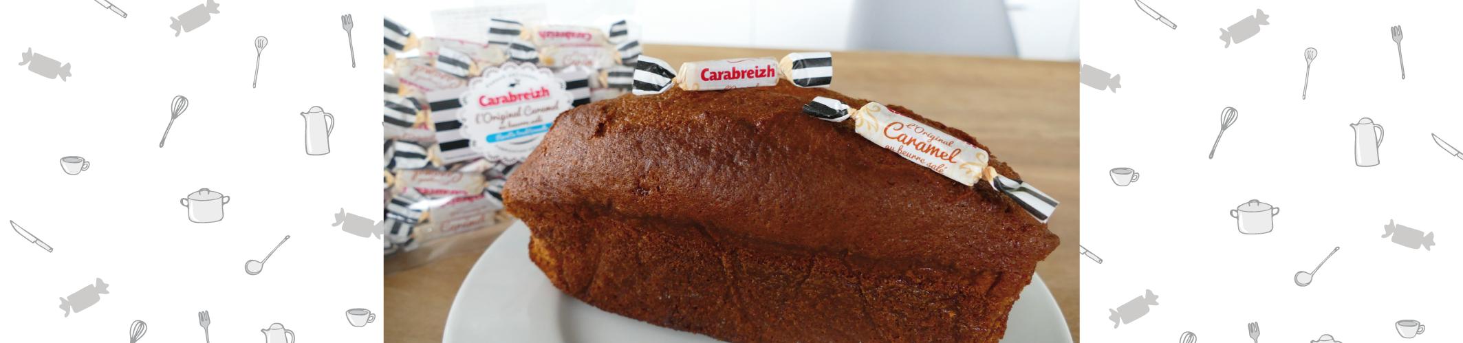 Cake au caramel beurre salé en barre Carabreizh !